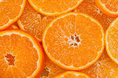 Background from slices of mandarins — Stock Photo