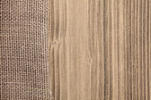 Cloth on wooden background — Stock Photo