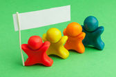 Team fellows from color plasticine — Stock Photo