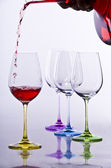 Wine glases with decanter — Stock Photo