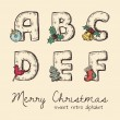 Retro christmas alphabet — Stock Vector #24925245