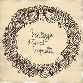 Vintage floral vignette — Stock Vector