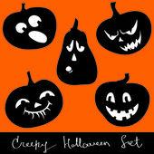 Halloween pumpkins set — Stock Vector