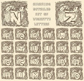 Vintage marine alphabet — Stock Vector