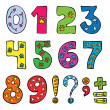 Numbers and signs funny set — Stockvektor