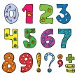Numbers and signs funny set — Vettoriali Stock