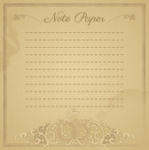 Vintage Scrapbook forrado notepape — Vector de stock