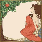 Eve, art-nouveau style — Stock Vector
