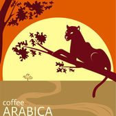 Arabica coffee tag design idea concept — Stock Vector