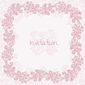 Ornate floral invitation card — Stock Vector