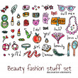 Fashion and beauty women accessories elements set — Stock Vector #26996375