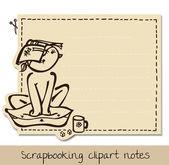Scrapbook funny notepaper for kids — Stock Vector