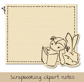 Scrapbook funny notepaper for kids — Stock Vector