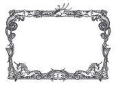 Vintage mariene frame — Stockvector