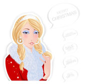 Santa girl — Stock Vector