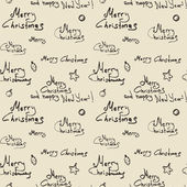 Modèle sans couture de Noël — Vecteur