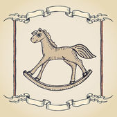 Vintage horse label — Stockvector