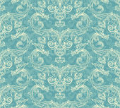 Antique victorian seamless pattern — Stock Vector