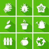 Vector icons set - gardening — Stock Vector