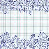 Vector nature school background — Stock Vector