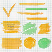 Vector transparent office marker lines and spot — Stock Vector