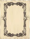 Vector engraved frame — Stock Vector