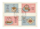 Vector decorative stamps — Stockvector