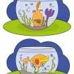 Cartoon of a fish in an aquarium — Stock Vector #24721713