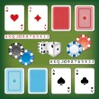 Royalty-Free Stock Imagen vectorial: Gambling set with cards, dices, numbers and casino chips