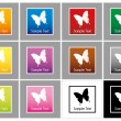 Butterfly vector mark collection — Stock Vector