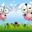 Funny cow illustration 4 — Stock Vector