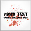 Stock Vector: Distorted text with blood spatter