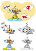 Karikatur eines roboters mit textluftblasen — Stockvektor