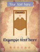 Poster with saloon door — Stock Vector