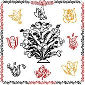 Traditionele motif collectie — Stockvector