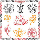 Traditional motif collection — Stock Vector