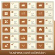 Stock Vector: Business card collection related to interior decoration