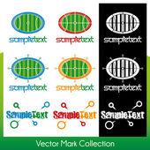 Vektor-symbol-auflistung, die im zusammenhang mit sport und aktivität — Stockvektor