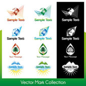 Vector symbol collection related to Earth and nature — Stock Vector