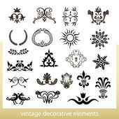Vintage decorative elements isolated on white background — Stock Vector