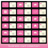 Business card collection related to interior decoration — Stock Vector