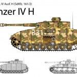 Постер, плакат: German WW2 Panzer IV H with long 75 mm L48 gun
