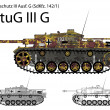 GermWW2 StuG III G tank destroyer with long 75 mm L48 gun — Stock Vector #24830093