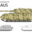 German WW2 Maus super heavy prototype tank — Stock Vector