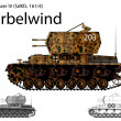 Stock Vector: WW2 German Wirbelwind self propelled anti-aircraft vehicle