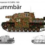 WW2 German Brummbar self propelled heavy assault gun — Stock Vector #24830167