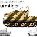 WW2 German Sturmtiger self propelled heavy assault gun — Stock Vector #24830171
