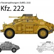 Stock Vector: WW2 GermSdKfz. 222 armored car