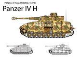 Ww2 alman panzer iv h uzun 75 mm l48 lik ile — Stok Vektör
