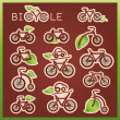 Vector mark collection related to ecology, nature and bicycles — Stock Vector